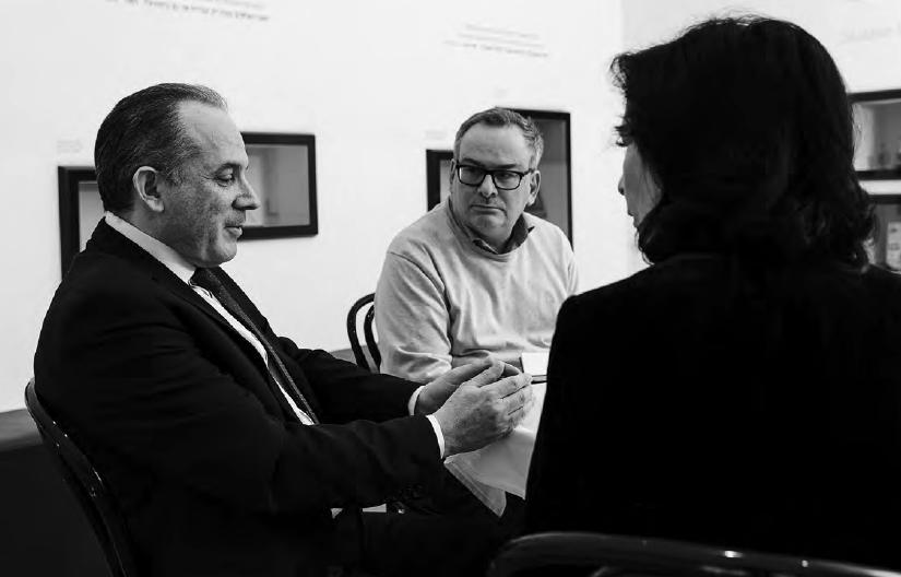 René Wachtel und Danielle Spera mit Mordechai Rodgold