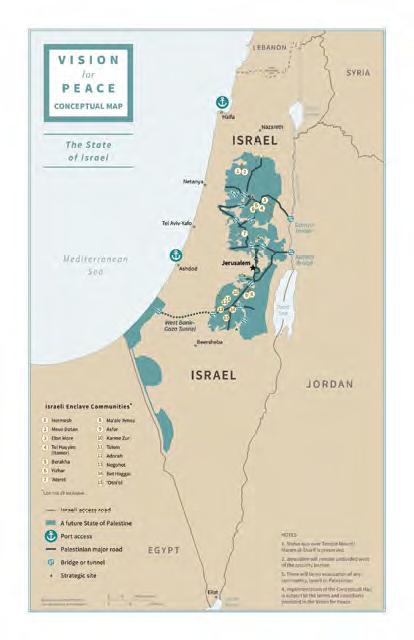 Landkarte Friedensplan
